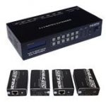 HDMI MATRIX EXTENDER, 4x inputs, 4x outputs, 60m via CAT, Full HD (1080p)