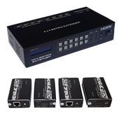 HDMI MATRIX EXTENDER, 4x inputs, 4x outputs, 60m via CAT, Full HD (1080p)